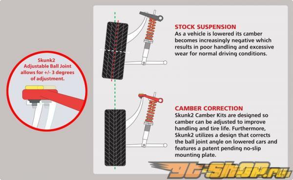 Skunk2 Tuner Series Adjustable передний  Camber комплект Honda Civic 92-95