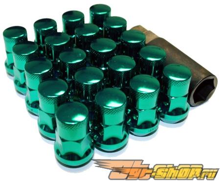 Muteki SR35 Lug Nuts - Green (Closed Ended)