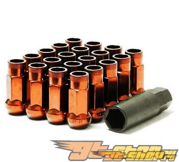 Muteki SR48 Lug Nuts - Orange (Open Ended)