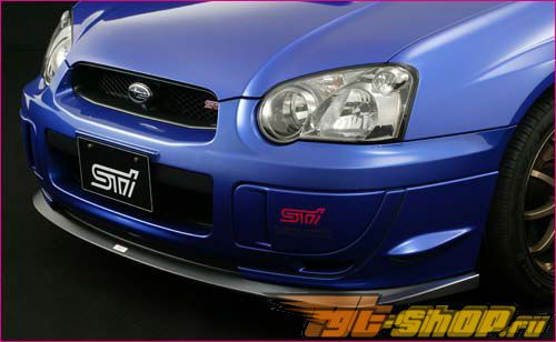 Губа на передний бампер STI на Subaru WRX|STI 2004