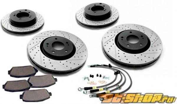StopTech Sport тормозной Slotted & Drilled комплект Infiniti G37 Sport 08-12