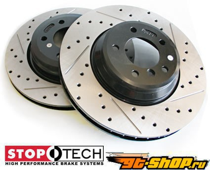 StopTech Sport тормозной Slotted & Drilled комплект Honda Civic 94-95