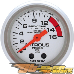 Auto Meter Ultra-Lite Датчик : Nitrous Pressure 0-1600 PSI #18524