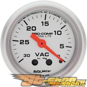Auto Meter Ultra-Lite Датчик : Vacuum 30 In. Hg. #18531