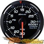 Defi 52mm Белый Racer Датчик: Boost -30inHG to 30PSI #21830