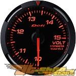 Defi 52mm Красный Racer Датчик: вольтметр 10-15V #21839