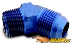 "A-1 Performance AN to Pipe Thread 45 degree Adapter: -06AN to 3/8"" NPT #23016"