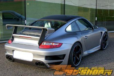 Накладка на задний бампер без парктроников TechArt GT Street на Porsche 997 TT 07+