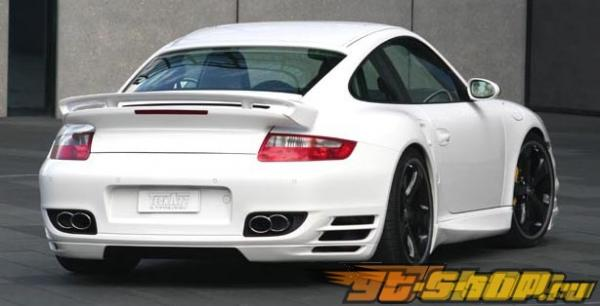 TechArt Twin Oval Хром насадка на выхлоп Porsche 997 TT 07+