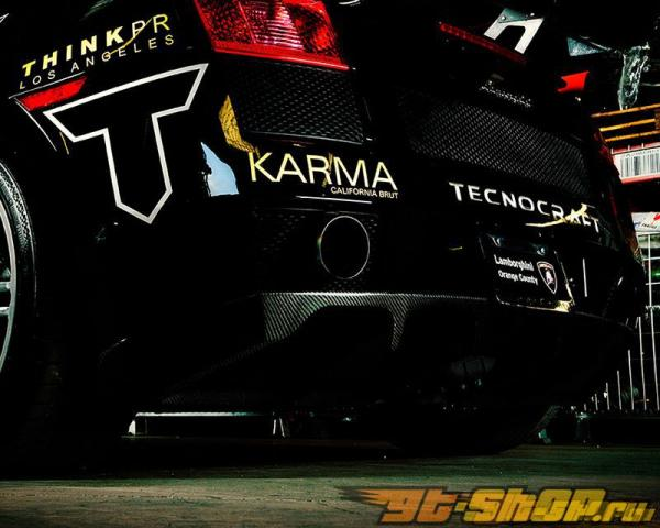 Диффузор на задний бампер из сухого карбона Tecnocraft для Lamborghini Gallardo 04+