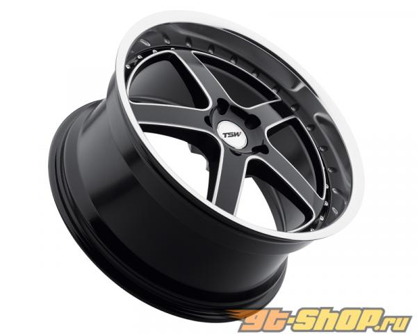 TSW Carthage Gloss Чёрный with Зеркала Lip & Milled Spokes Диски 19x8 5x112 +45mm