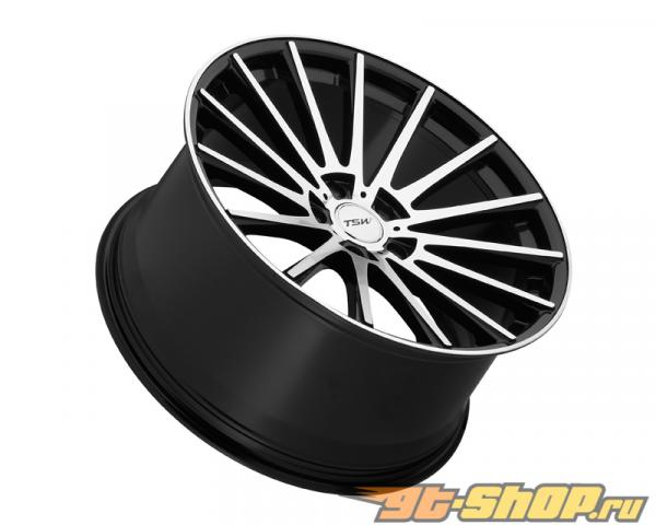 TSW Chicane Gloss Чёрный with Зеркала Cut Face Диски 19x8.5 5x100 +35mm