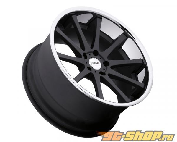 TSW Jerez Matte Чёрный with Хром нержавеющий Lip Диски 20x10 5x112 +25mm