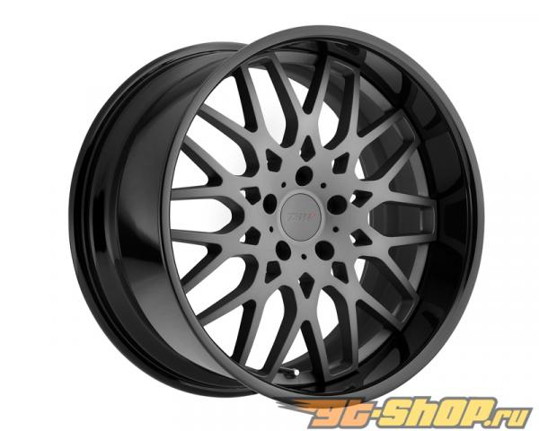 TSW Rascasse Matte Gunmetal with Gloss Чёрный Lip Диски 18x8 5x114.3 +35mm