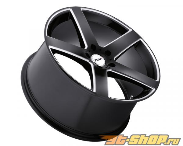 TSW Rivage Gloss Чёрный with Milled Spoke Диски 17x8 5x112 +45mm