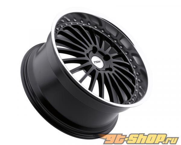TSW Silverstone Gloss Чёрный with Зеркала Cut Lip Диски 19x8 5x120 +20mm
