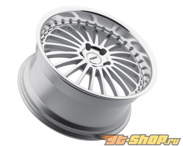 TSW Silverstone серебристый with Зеркала Cut Face & Lip Диски 22x9 5x120 +35mm