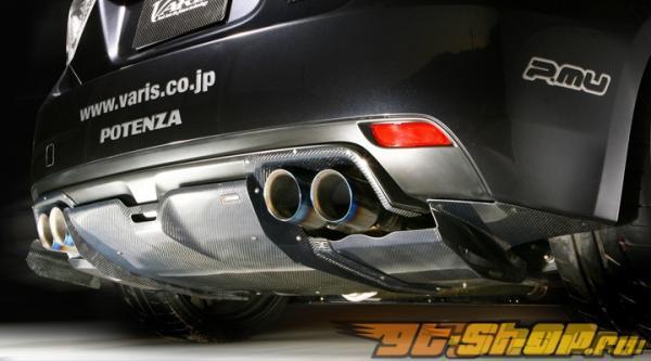 Карбоновый центральный диффузор на задний бампер Varis для Subaru STI GRB 08+