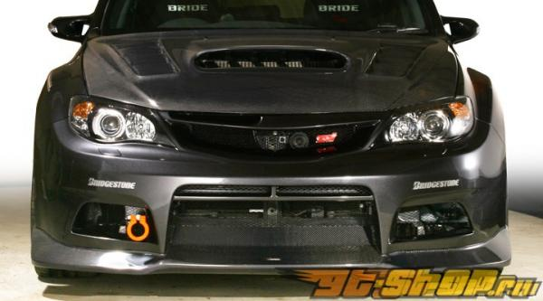 Карбоновая губа на передний бампер Varis для Subaru STI GRB 08+