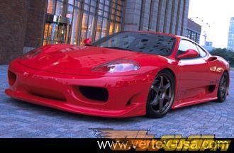 Пластиковый обвес по кругу Vertex Vertice на Ferrari 360 Modena 99-05
