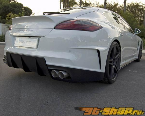 Накладка на задний бампер Vorsteiner V-RT DVWP на Porsche Panamera 09+