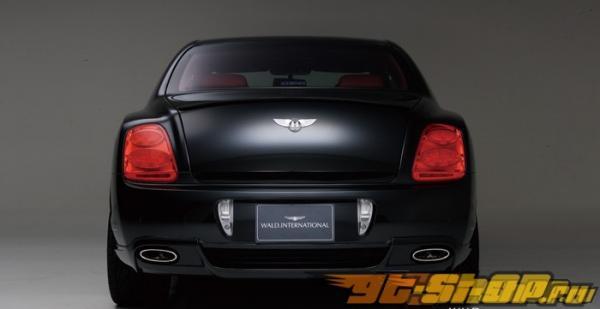 Карбоновая накладка на задний бампер с кевларовым покрытием Wald International для Bentley Flying Spur 2005-2008