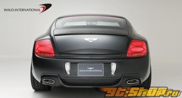 Карбоновая накладка на задний бампер с кевларовым покрытием Wald International на Bentley Continental GT 03+
