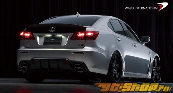 Диффузор на задний бампер Wald International для Lexus IS-F 08+