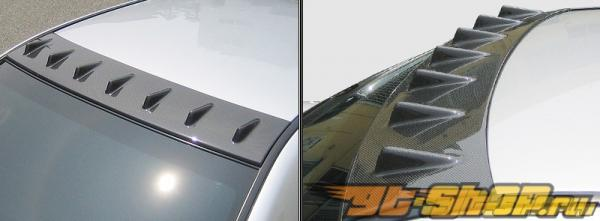 Карбоновый спойлер на крышу ChargeSpeed на Subaru WRX STI 2002-2007