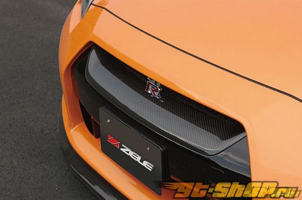 Карбоновая решётка радиатора Zele Performance на Nissan GT-R R35 09+