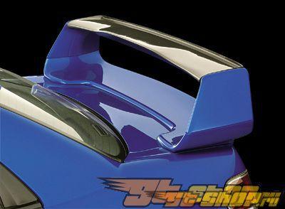 Пластиковый спойлер с карбоновым антикрылом Zerosports Garnish для Subaru STI 2004-2007